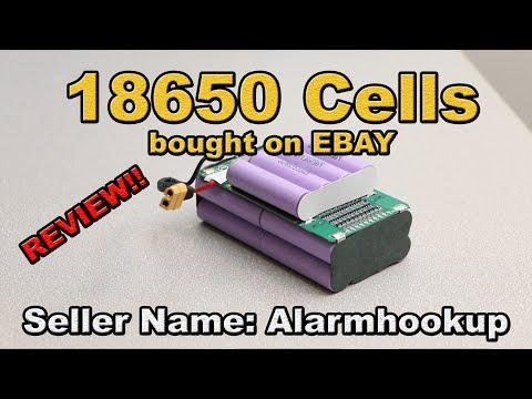 Ebay Battery review 18650 LG li-ion - Seller: alarmhookup