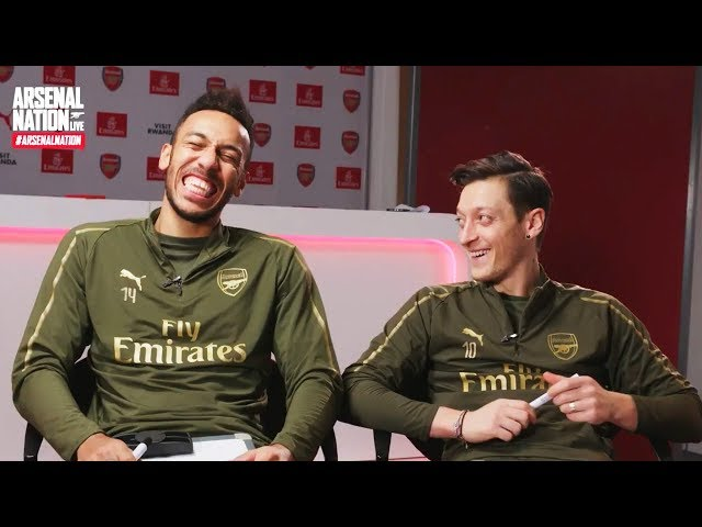 Aubameyang and Ozil   Arsenal Nation LIVE: Teammates Special