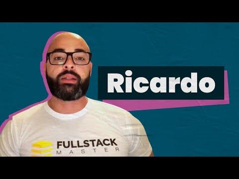 #NossosAlunos Fullstack Master - Ricardo