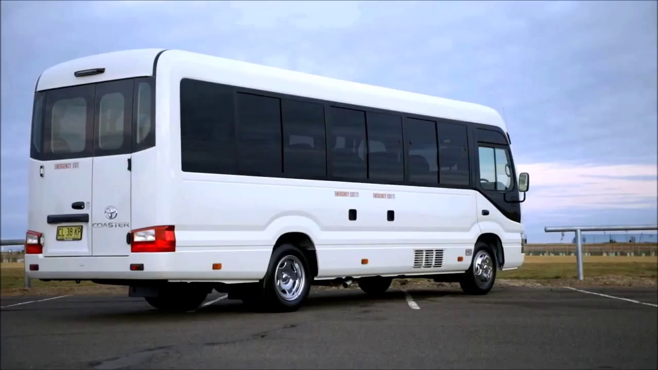 2017 toyota coaster video review