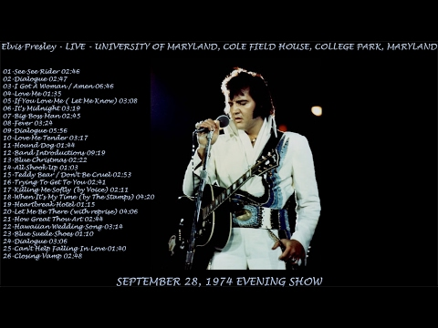 Elvis Presley - LIVE, 28 September 1974 Evening Show (College Park) AUDIO ONLY, [HD Remaster], HQ