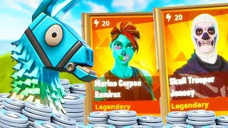 UNLOCKING THE SKULL TROOPER and GHOUL TROOPER | Fortnite Birthday Llama Opening