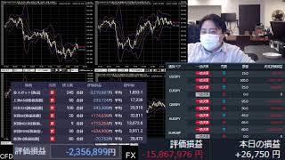 爆損FXライブ配信、アジア株が下がるううううう
