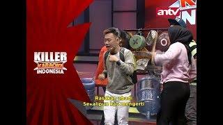 Lagi asyik nyanyi tiba-tiba Rega dihampiri oleh grup perkusi – Killer Karaoke Indonesia