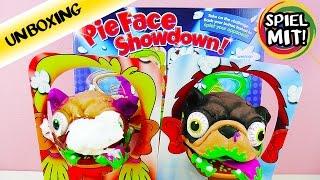 PIE FACE SHOWDOWN erklärt mit ekligen Monster Hunden | Wie funktioniert das Spiel? | Unboxing