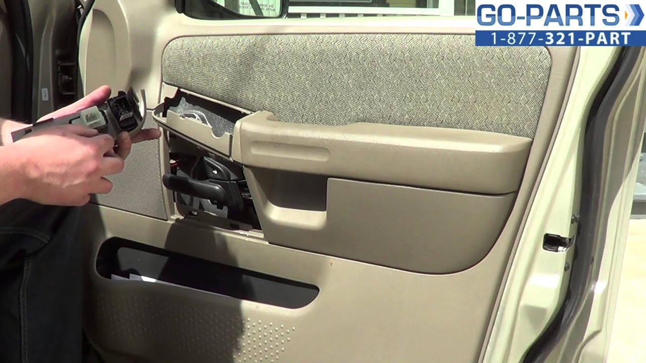 Replace 2001 2005 Ford Explore Power Window Switch How To Change Install 2002 2003 2004 Youtube