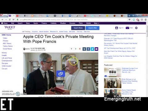 Pope Francis meets with Apple and Google CEOs: Signs of the Mark of the beast Coming Soon