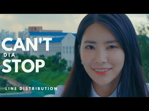 DIA 다이아 - CAN'T STOP 듣고싶어 || Line Distribution