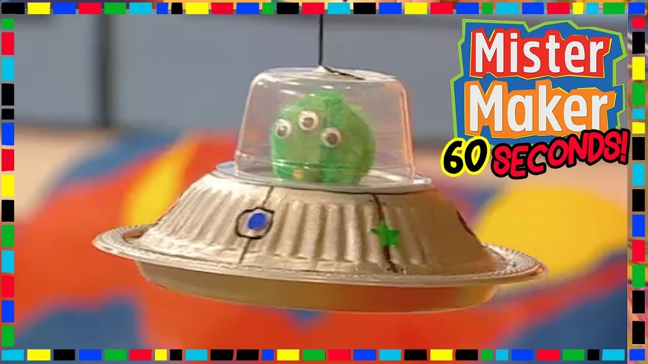 Alien Spaceship - HOW TO MAKE IN 60 SECONDS 👽