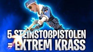 5 STEINSTOßPISTOLEN = EXTREM KRASS! 👀 | Fortnite: Battle Royale