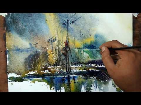 watercolor painting techniques landscape   Art Explain