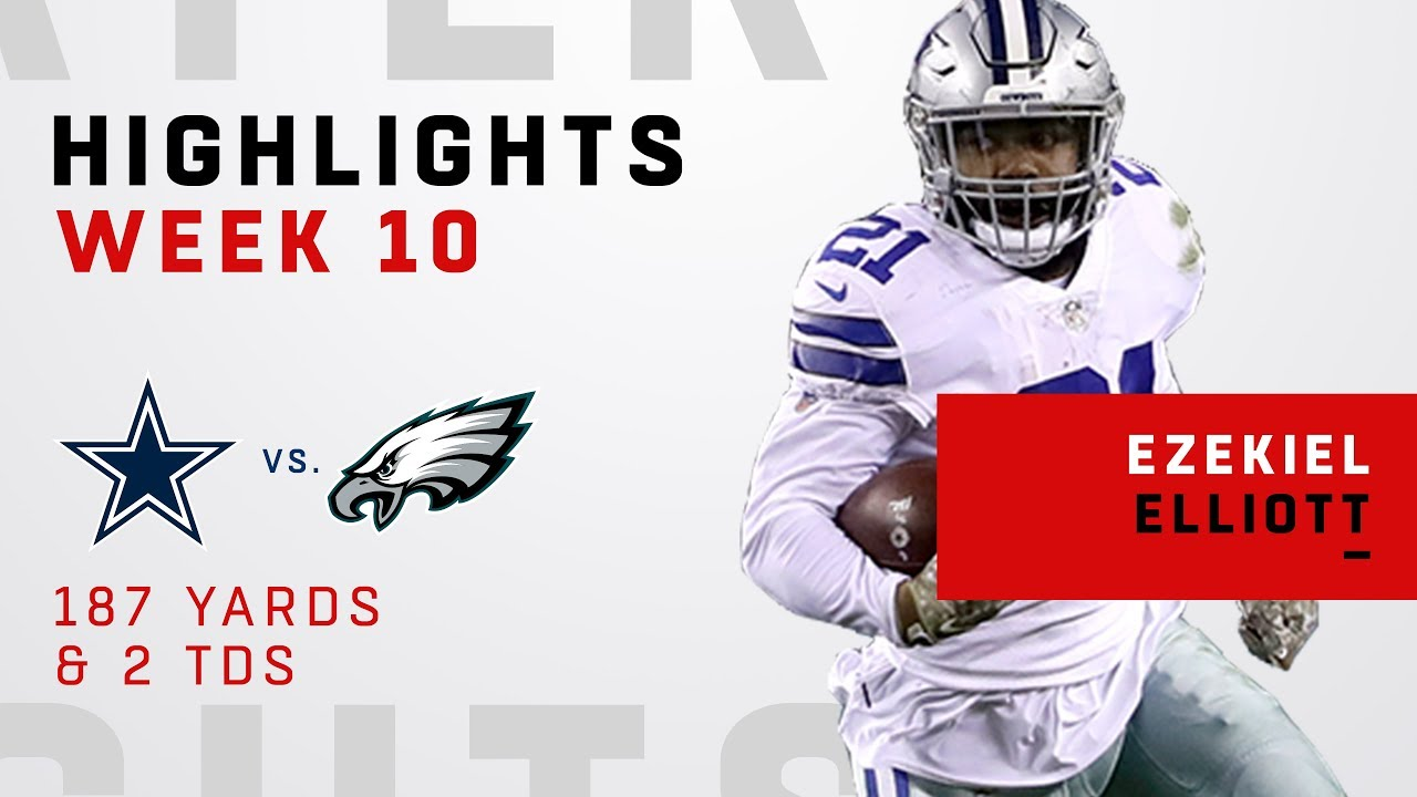 eb471e780 Ezekiel Elliott's 2 TDs & 187 Total Yards vs. Philly! - YouTube