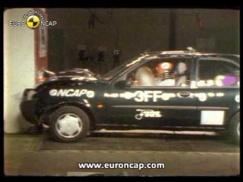 euro ncap ford fiesta 1997 crash test youtube. Black Bedroom Furniture Sets. Home Design Ideas