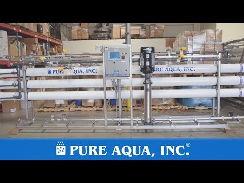 Treated Waste Water Effluent by Reverse Osmosis System Egypt 400,000 GPD | www.pureaqua.com