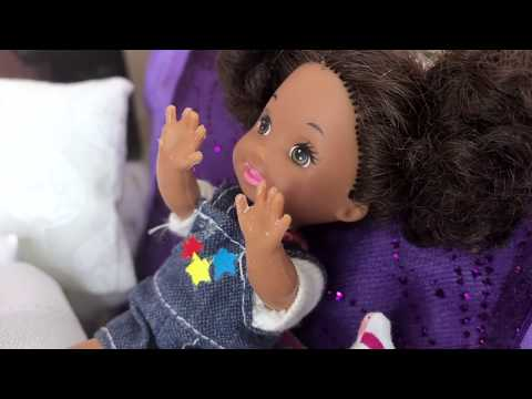 Barbie Sisters and the Too Careful Babysitter   Naiah and Elli Doll Show Ep. 16