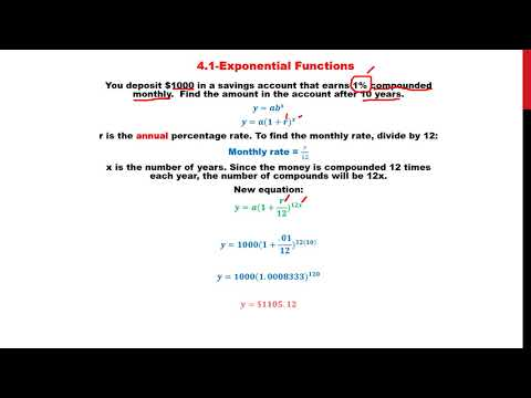 4 1 Exponential Functions Video #5  Compound Interest