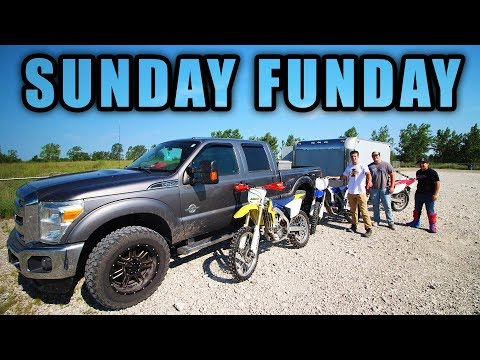 SUNDAY FUNDAY TRAILERING 4 DIRTBIKES UP TO 800 ACRE RIDING PARK