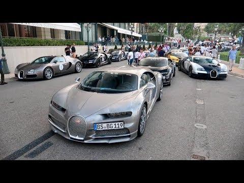 100 Million € de Bugatti à Monaco !! Bugatti Tour 2019