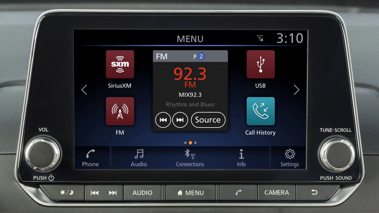 2019 Nissan Altima - Control Panel and Touch Screen Overview