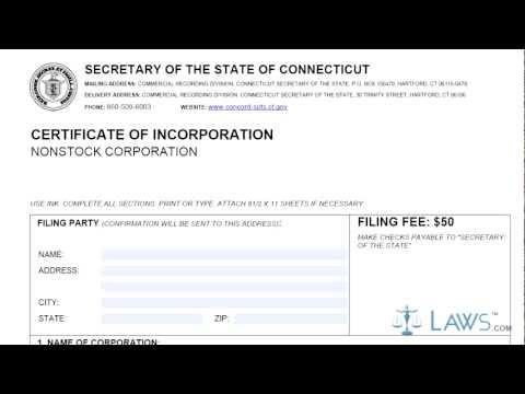 Certificate of Incorporation CIN 1 1