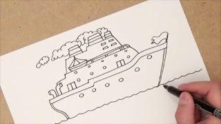 como dibujar un barco | como dibujar un barco paso a paso