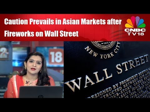 Caution Prevails in Asian Markets after Fireworks on Wall St