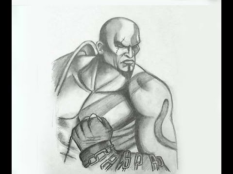 How To Draw Kratos God Of War Mortal Kombat 2011 Youtube