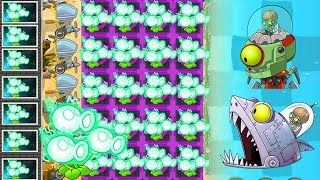 Plants Vs Zombies 2 Mod: ELECTRIC PEASHOOTER MAX LEVEL Vs ALL ZOMBOSS FIGHT!