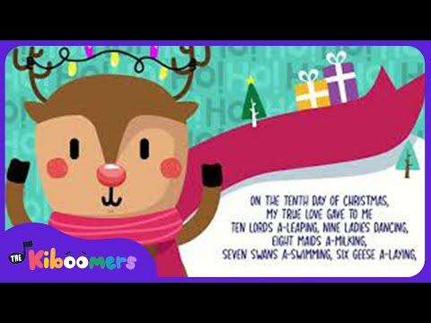12 Days of Christmas Song for Kids with Lyrics | The Kiboomers | Christmas Carol | Preschool