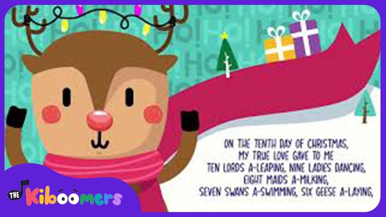 12 days of christmas song for kids with lyrics the kiboomers christmas carol preschool [ 1280 x 720 Pixel ]