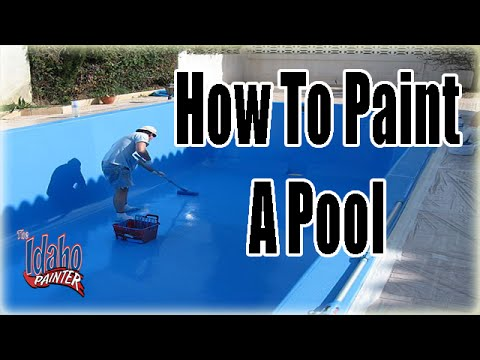 How To Paint A Pool.  Painting Pools With Chlorinated Rubber Pool Paint.