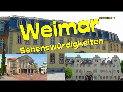 Kulturstadt Weimar * Klassikerstadt-Thüringen *Goethehaus *Schillerhaus*Doku & Stadtrundgang