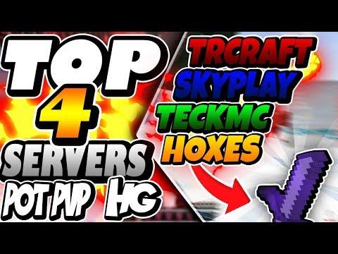 TOP 4 SERVERS DE HG/KIT PVP/POT PVP ~ 1.7/ 1.8 (PIRATA E ORIGINAL) - Minecraft