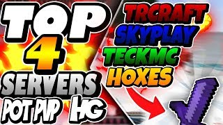 TOP 4 SERVERS DE HG/KIT PVP/POT PVP ~ 1.7/ 1.8 (PIRATA E ORIGINAL) - Minecraft