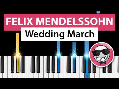 Wedding March (Felix Mendelssohn) - Piano Tutorial - How to Play