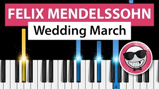 Wedding March (Felix Mendelssohn) - Piano Tutorial - How to Play