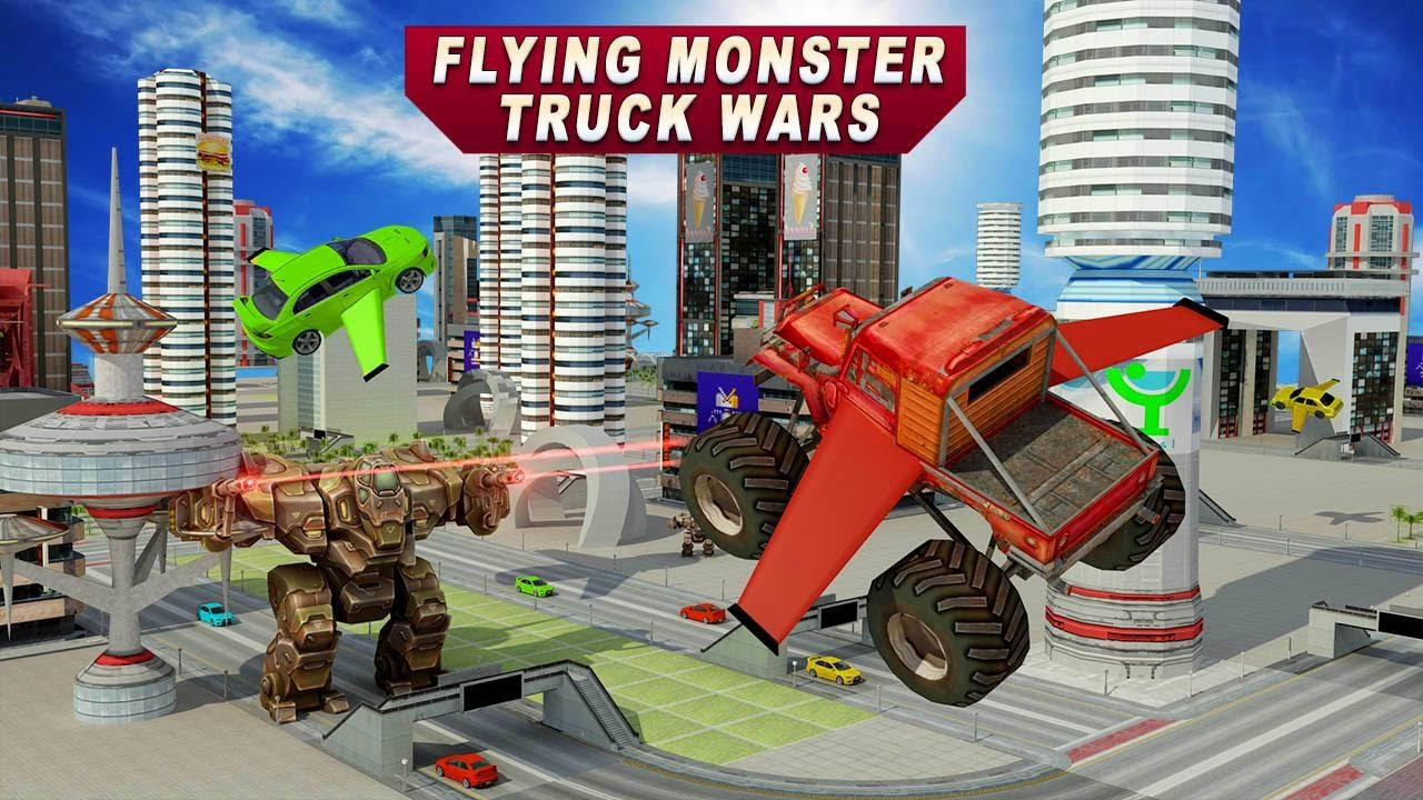 Flying Monster Truck Wars By Evolution Game Android Gameplay Hd