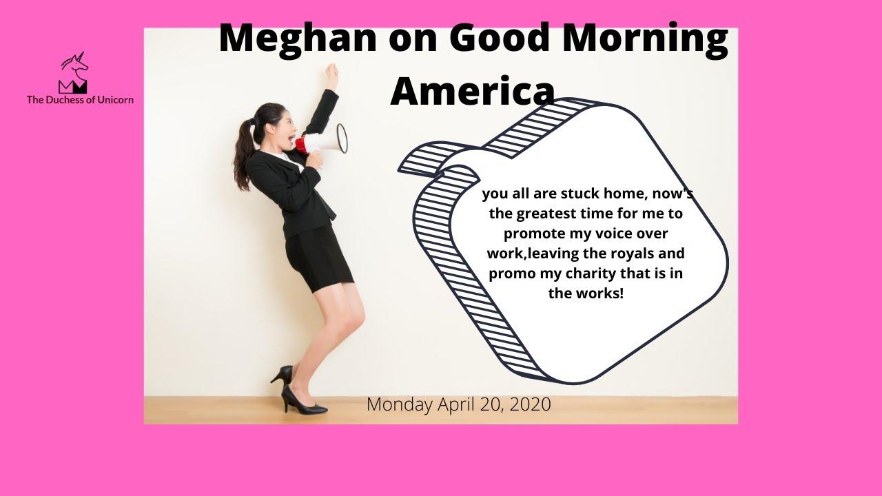 Meghan Markle promo of Disney Voice over ABC GMA