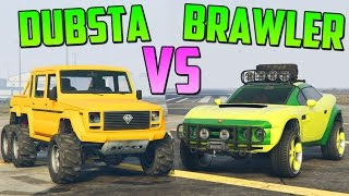 DUBSTA 6x6 vs COIL BRAWLER - Test de Velocidad - GTA V Online PS4