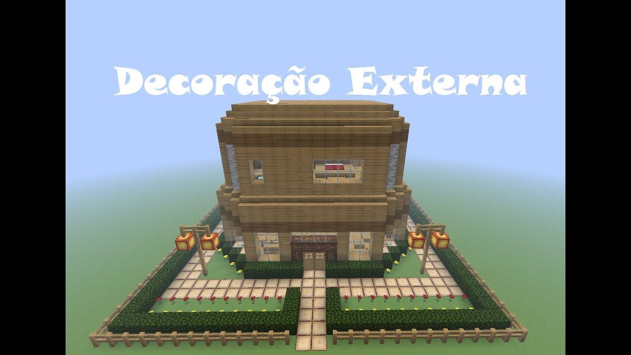 Minecraft Tutoriais: Como construir uma Casa de Madeira Decoração  #054BC6 1294x919