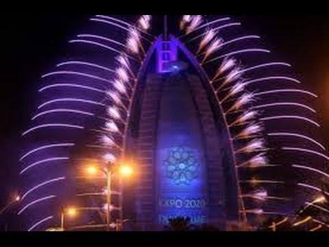 Laser light show in Dubai @ Burj-al-Arab