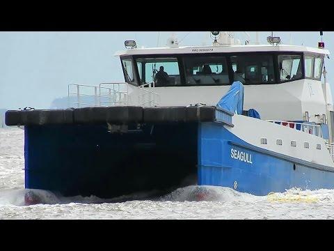 offshore crew speedboat SEAGULL OWNZ2 IMO 9698678 Emden catamaran