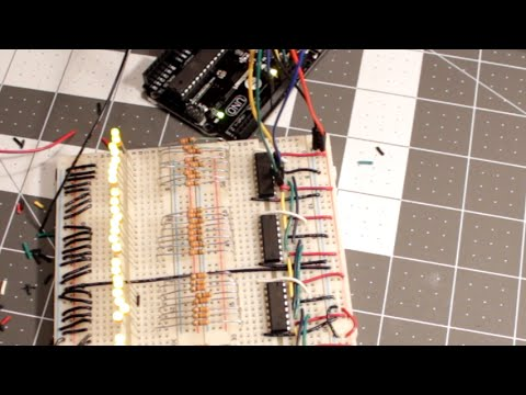 Increase the digital outputs on an Arduino (PART 1 of 2)