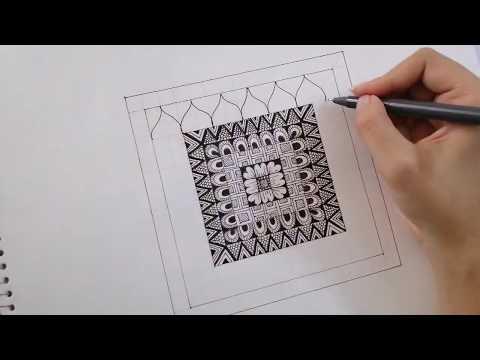 Square Mandala - Easy Design For Beginners