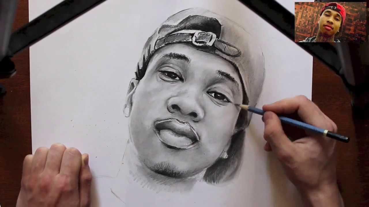 Tyga - Teenage Speed Drawing 5 (Still Got It) - YouTube