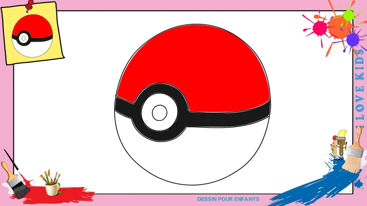 Dessin pokeball comment dessiner une pokeball facilement - Dessin de pokemon facile ...