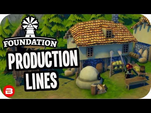 Foundation: ▶Production Line Efficiency◀ Medieval City Building Game #7 (Alpha)