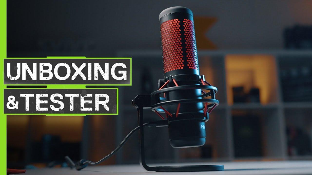 HyperX QuadCast mikrofon Thronmax Caster Boom