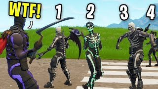 I Counted EVERY Skull Trooper I Found Today on Fortnite (the new default skin update)