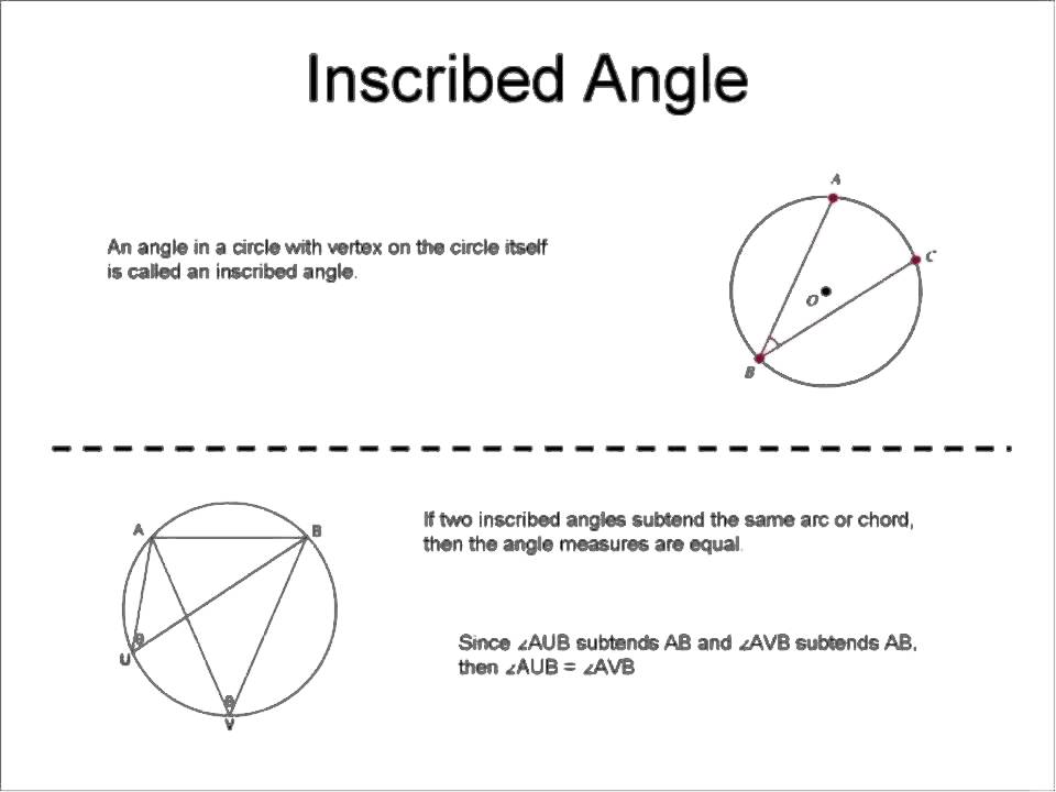 Inscribed Angles Worksheet Answer Key - Nidecmege